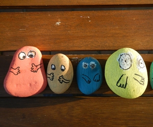 Galets peints Barbapapa
